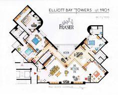 Planos de los pisos de las series más famosas