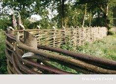 10 Stupendous Unique Ideas: Natural Fence Willow Branches pallet fence on a hill.Fence Painting Fun old fence garden.Pipe Fence And Gates. Natural Fence, Natural Garden, Natural Wood, Backyard Fences, Garden Fencing, Farm Fencing, Fence Landscaping, Dog Fence, Horse Fence