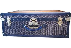 Goyard Trunk | ... Kings Lane - Stacey Bendet - Goyard Blue Chevron Canvas Palace Trunk