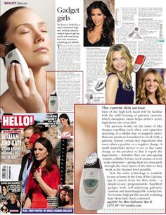 The Next Wave: Story - Celebrities using Nu Skin! Nu Skin featured in many famous magazines Galvanic Facial, Galvanic Body Spa, Ageloc Galvanic Spa, Nu Skin Ageloc, Anti Aging Skin Care, Beauty Care, Beauty Box, Face And Body, Health And Beauty