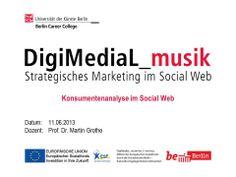 Welche Möglichkeiten und Tools stehen mir als Musiker im Social Web zur Verfügung, um meine Zielgruppe/Fans genauer kennen zu lernen und zu analysieren. Dozent: Prof. Dr. Martin Grothe, Geschäftsführer der complexium GmbH und Experte für Social-Media-Analyse & Social-Media-Monitoring. http://www.digimedial.de/zertifikatskurs