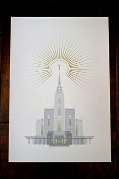 Rexburg Idaho LDS Temple 13x19 print