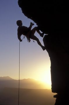 Rappel off a mountain. I don't want to actually climb it, just rappel it :)