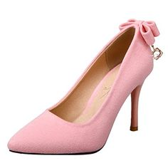 Charm Foot Women's Elegant Pointed Toe Bows High Heel Pum... Pink Dress Shoes, High Heels, Toe, Pumps, Elegant, Fashion, Choux Pastry, Dapper Gentleman, Moda