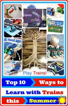 Top 10 Ways to Learn with Trains this Summer from Play Trains!