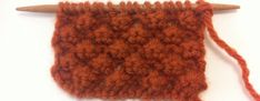 Example of the Raspberry Stitch/ Trinity Stitch or Blackberry Stitch, it's a great way to add dimension to blankets, scarves, washcloths or pillows.