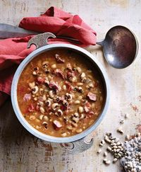 """Black-Eyed Pea Stew Recipe from my new cookbook, """"Southern Soups & Stews"""". @Leigh Beisch's gorgeous photo of my friend Heather W. Jones's family recipe. So so good."""