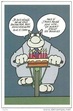 Ecarte d'anniversaire Geluck pour tous les retardataires !!!