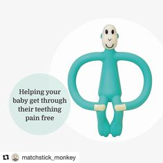 """Ayudan a los peques  on la dentición y son """"monísimos""""  http://ift.tt/2l2E87f #cucutoys #matchstickmonkey #bebes #baby #denticion #mordedor"""