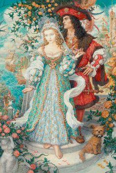 """Illustrationen aus """"Die kleine Meerjungfrau"""" von Hans Christian Andersen, künstlerisch umgesetzt von Anton Lomaev."""