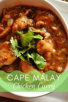 This South African Cape Malay chicken curry recipe is adapted from Disney's Boma restaurant at the Animal Kingdom Lodge. It's extremely easy to make, and so flavorful! We have tried it with chicken thighs and breasts, and it's delicious both ways. South African Dishes, South African Recipes, Jamaican Recipes, Curry Recipes, Thai Recipes, South African Curry Recipe, Gourmet Burger, Red Split Lentils, Madras Curry