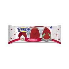 PEEPS CREAM FUDGE DIPPED RED VELVET MARSHMALLOW CHICKS 3 CT