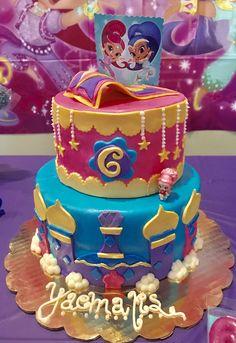 Shimmer and Shine fondant cake