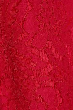 Diane von Furstenberg - Alma Cutout Corded Lace Dress - Red - US6