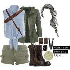 The Maze Runner Zodiacs - Your Outfit Bad Girl Outfits, Teenager Outfits, Teen Fashion Outfits, Emo Outfits, Fashion Dresses, Zombie Apocalypse Outfit, Apocalypse Fashion, Maze Runner, Runners Outfit