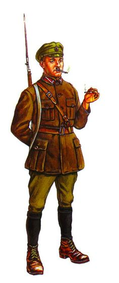 Army of the Republic of Latvia Corporal Infantry Latvian Army, 1919