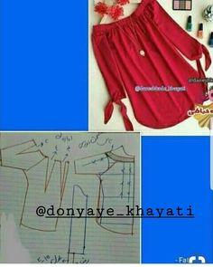 لطفا پيج رو با دوستان تون هم به اشتراك بذاريد🙏🏻👍🏻 #خياطي #آموزش_خياطي #مدل_لباس #لباس_مجلسي #ايده #خلاقيت #ترفند #لباس_شب #لباس_عروس #مدل… Sewing Paterns, Dress Sewing Patterns, Blouse Patterns, Clothing Patterns, Blouse Designs, Skirt Patterns, Fashion Sewing, Diy Fashion, Fashion Outfits