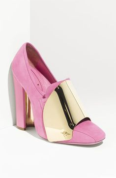 Cannot get enough of these Yves Saint Laurent 'Shield' Loafer Pumps