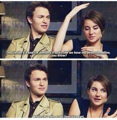 Shailene Woodly and Ansel Elgort- The Fault in Our Stars