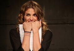 Stana Katic performs onstage at the Westside Theatre on Monday, September 26. Photo credit: Bruce Glikas. #WhiteRabbitRedRabbit