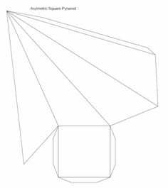 Printable 3D pyramid template. Color it, cut it out, fold