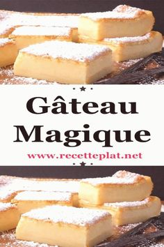 Gâteau magique The magic cake is a pastry prepared from a single preparation and which, after baking, gives three different textures, a flan, a cream and an aerated sponge cake. We offer this easy dessert recipe that will delight your guests. Desserts To Make, Lemon Desserts, Vegan Dessert Recipes, Cheesecake Recipes, Torrone Recipe, Kolaci I Torte, French Pastries, Food Cakes, Savoury Cake