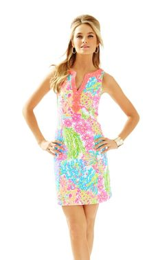 ccd1ab51a15 Ryder Shift in Multi Lovers Coral Summer Dresses