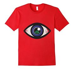 51797cf4 Men& Alien in Bloodshot Eye Red Edge of Normality. Topical Trendy Tees