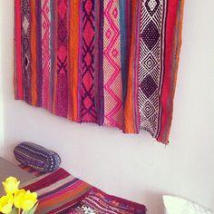 Perfect textiles hanging at cafe N. in Copenhagen. (for plenty of design inspiration, follow me on instagram as I spend 6 weeks in Copenhangen: @justinablakeney)
