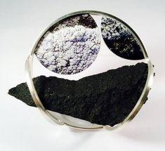 expo BASALT - Seliena Coyle-Carraig Dubh #1-2015 silver, image on Di-bond, basalt, steel: