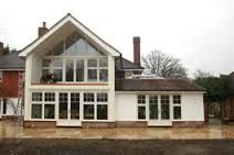 two storey rear extension ideas House Extension Plans, Cottage Extension, House Extension Design, Rear Extension, House Design, Extension Ideas, Extension Google, Bungalow Extensions, Garden Room Extensions