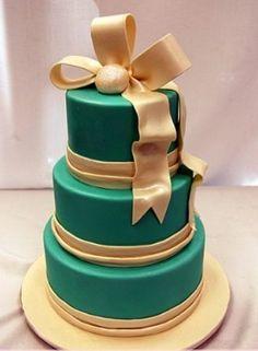 Designer princess inspired green wedding cake