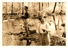 Babe Ruth Fly Fishing At Jacksonburg Creek. (Blairstown, New Jersey Pt.2 - c.1930's).