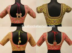 Beautiful all over maggam work bridal blouse designs by Anya. For inquiries contact: info Phone: 9677344055 Related PostsMaggam Work Wedding Blouse DesignsSilk Saree Blouse DesignsMaggam Work Blouse DesignsGorgeous Designer Blouses for Wedding Silk Sarees Wedding Saree Blouse Designs, Pattu Saree Blouse Designs, Blouse Designs Silk, Saree Blouse Patterns, Zardosi Work Blouse, India Fashion, Silk Sarees, South India, Blouses