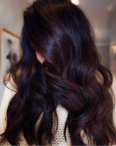 Cherry Brown Hair, Black Cherry Hair Color, Cherry Hair Colors, Hair Color For Black Hair, Brown Hair Colors, Chocolate Cherry Hair Color, Chocolate Brown, Eggplant Colored Hair, Wine Colored Hair