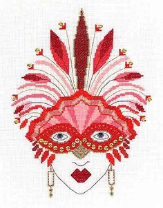 Scarlet Cross Stitch Kit by Heather Anne Designs for Classic Embroidery