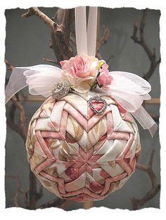 folded fabric ornament