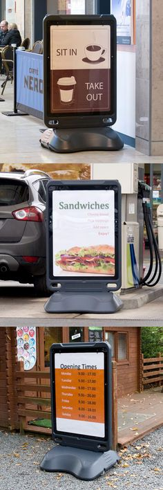 The Advocate™ floor standing poster display sign is a versatile way of advertising your products or service. Ideal for pavements, forecourts, shops, restaurants and leisure environments. #GlasdonUK #PosterDisplaySign #ForecourtDisplay