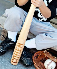 Play ball! Whether practicing those pitches or hitting a pop fly into left field, this personalized baseball bat is perfect for balmy days in the backyard, playful picnics and impromptu games with friends.