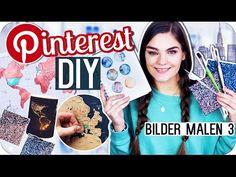 4 PINTEREST DIY's BILDER MALEN - Teil 3 // I'mJette - YouTube