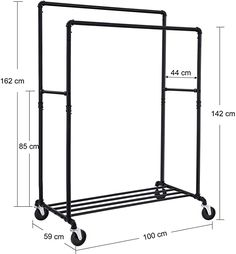 Industrial, Clothes Rail, Hanging Rail, At Home Store, Wardrobe Rack, Metal, Furniture, Home Decor, Plads