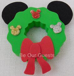 Disney Theme Parks Christmas Wreath Mickey Antenna Car Pencil Topper New in Bag