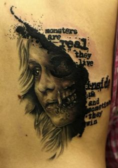 Great tattoo done to show off one of King's most memorable quotes.