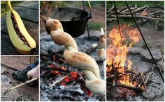 camp food-look at the dough wrapped around the stick.  Bet that's a crescent roll from a tube.