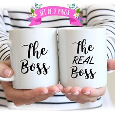 Mug Set for Couples, The Boss The Real Boss Mugs, Couples Mugs, Mug Set for Couple, Boss Mug Couples Coffee Mugs, Couple Mugs, Coffee Mug Sets, Mugs Set, Couple Gifts, Coffee Cups, Couple Things, Great Wedding Gifts, Wedding Gifts For Couples