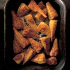A picture of Delia's Parmesan-baked Parsnips recipe Parmesan Recipes, Roasted Parsnips, Roasted Potatoes, Vegetable Side Dishes, Vegetable Recipes, Parsnip Recipes, Savoury Recipes, Healthy Recipes