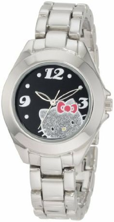 Hello Kitty by Kimora Lee Simmons Women's H3WL1033SLV  Silver Alloy Case And Glitter Face Watch Hello Kitty by Kimora Lee Simmons, http://www.amazon.com/dp/B005BV90AY/ref=cm_sw_r_pi_dp_8vVDqb0W0EKW3