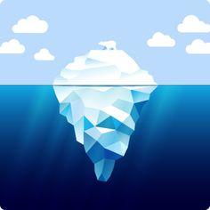 Iceberg and white bear - Illustration