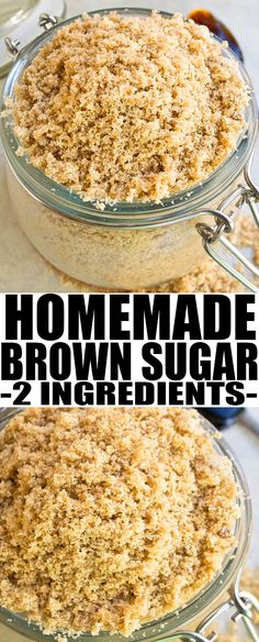 Learn how to make brown sugar with only 2 ingredients: molasses, granulated sugar! This quick and easy homemade brown sugar is a great substitute in baking. Best Dessert Recipes, Fun Desserts, Sweet Recipes, Dinner Recipes, Make Brown Sugar, Homemade Spices, Cupcakes, Baking Tips, Baking Hacks