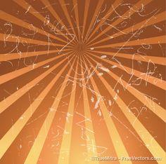 Drawn sunburst with scratches background